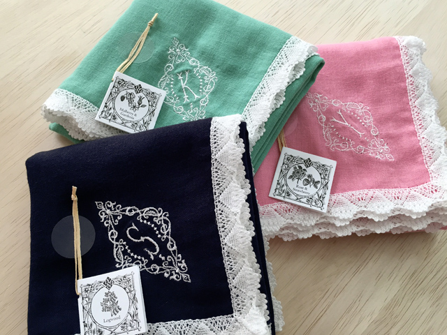 YLINUM Botanical colored HANKACHI handkerchief