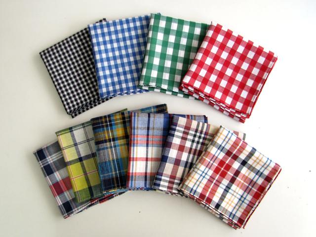YLINUM check handkerchief
