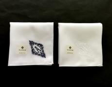 イニシャル刺繍ハンカチ(NAVY)、(WHITE)再販予定につきまして